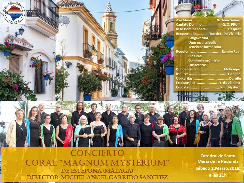 Cartel Concierto Coral Magnum Mysterium Estepona